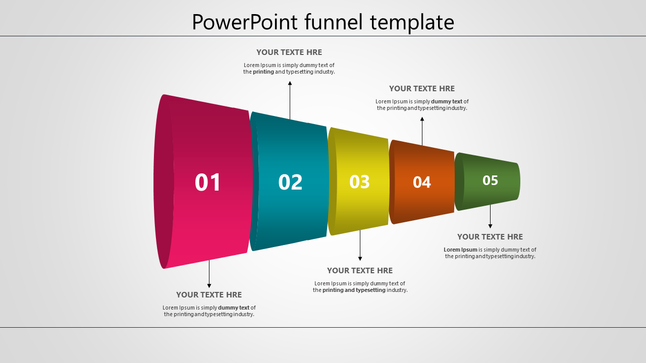 Free-Powerpoint Funnel Template - Horizontal