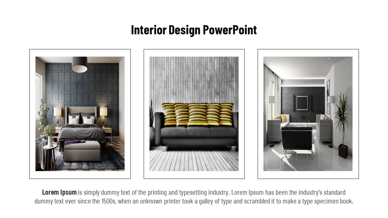 Interior Design Powerpoint Presentation Template Three Designs Slideegg