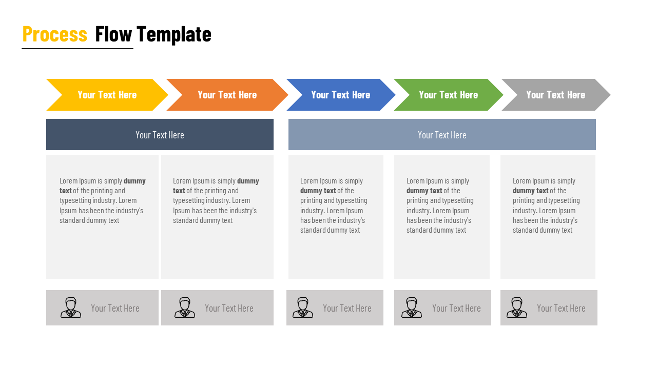 Process Flow PPT Template For Business- SlideEgg
