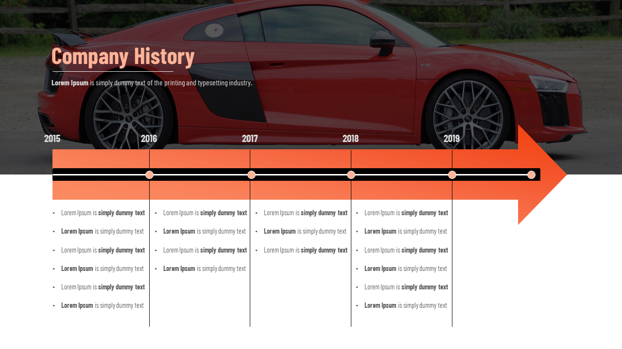 Company History PowerPoint Template-Timeline Model