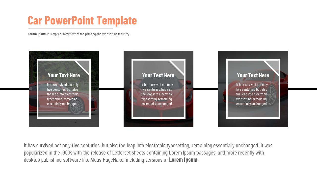Car PowerPoint Presentation Template