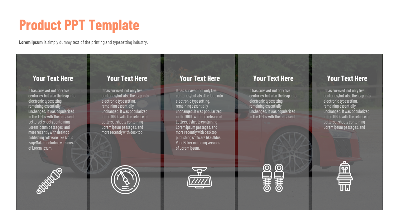 Product PPT Template-Vertical Model