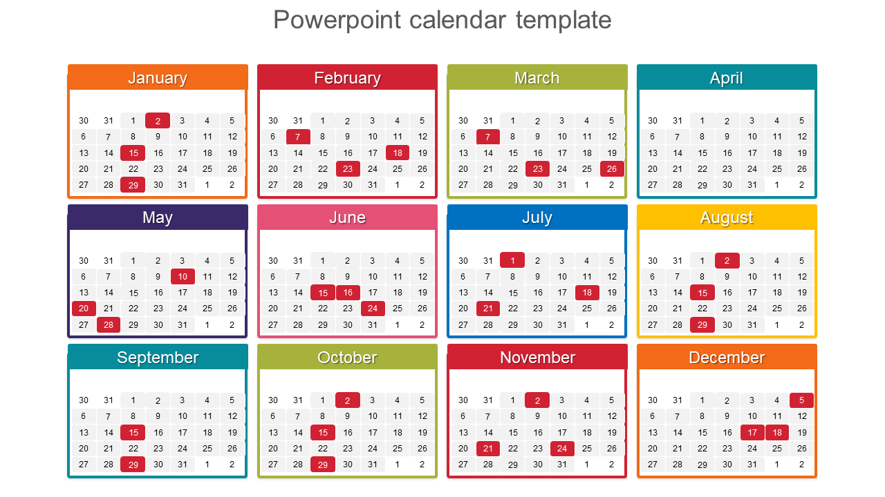 Download Calendar Template from www.slideegg.com