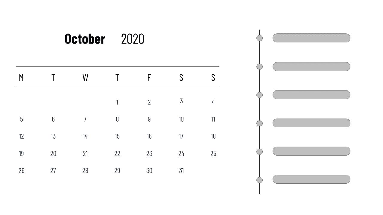 View October 2020 Calendar Image Download Gif