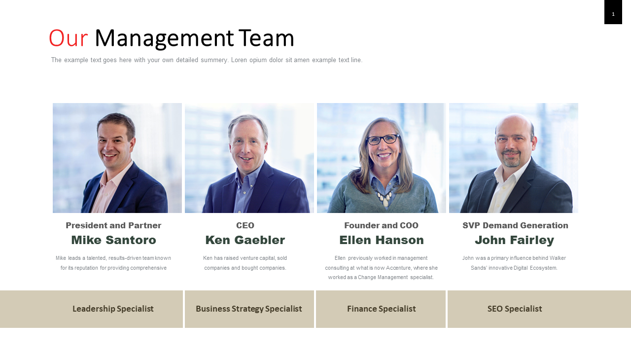 Management PPT templates - Team management