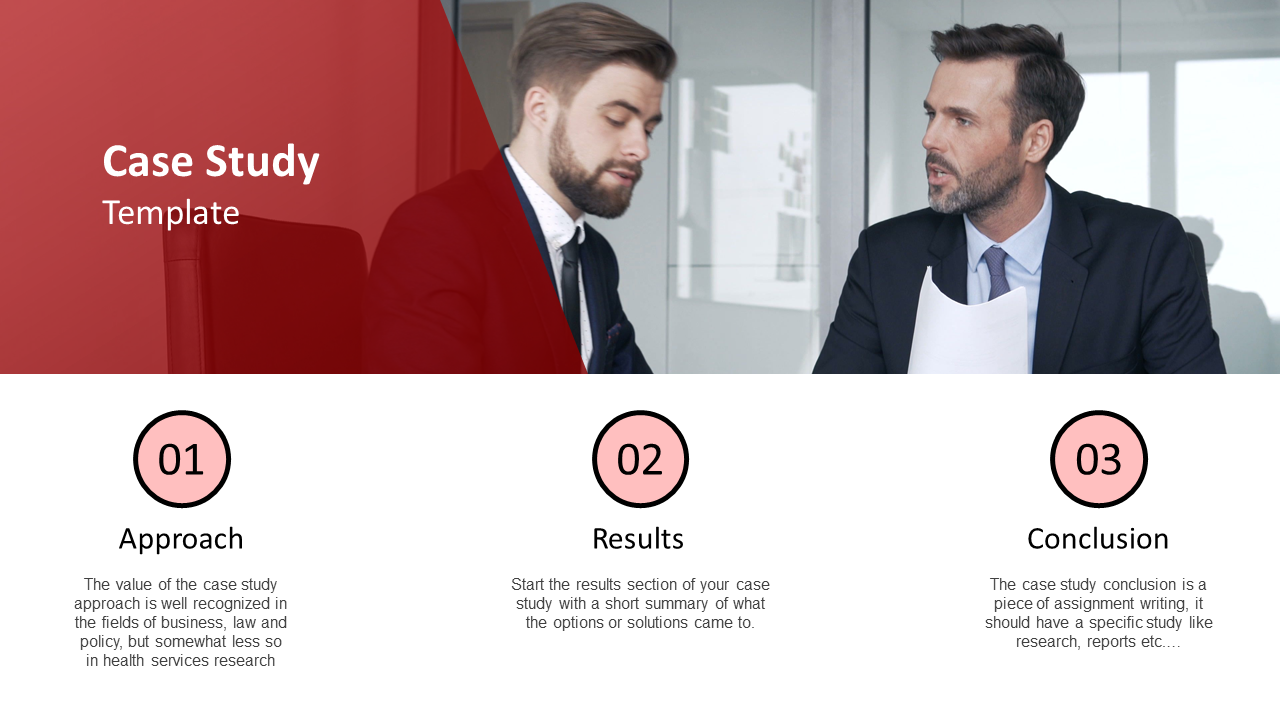 Business Case Study PowerPoint Template Presentation