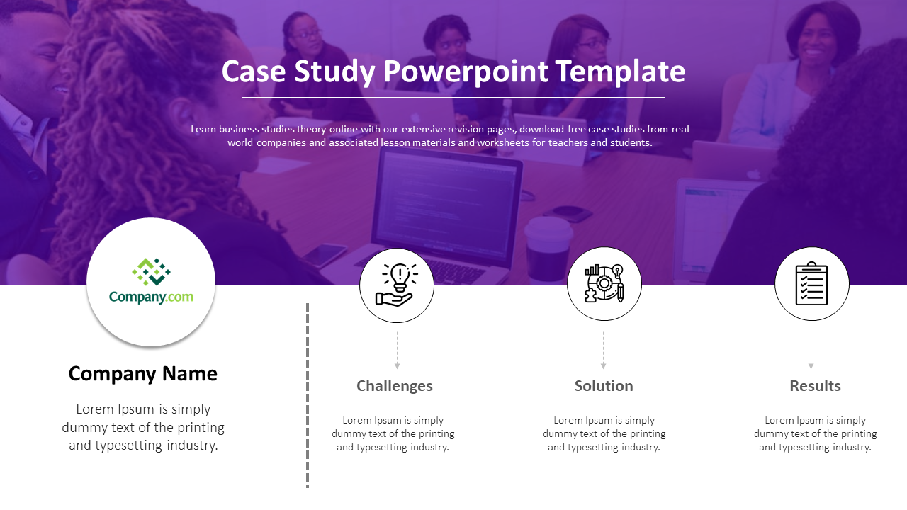 Free Case Study PowerPoint Template Presentation