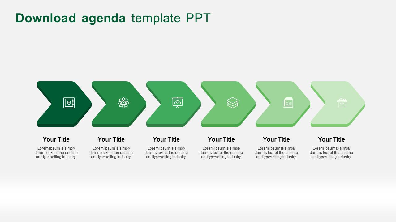 6 Steps download agenda template ppt- SlideEgg