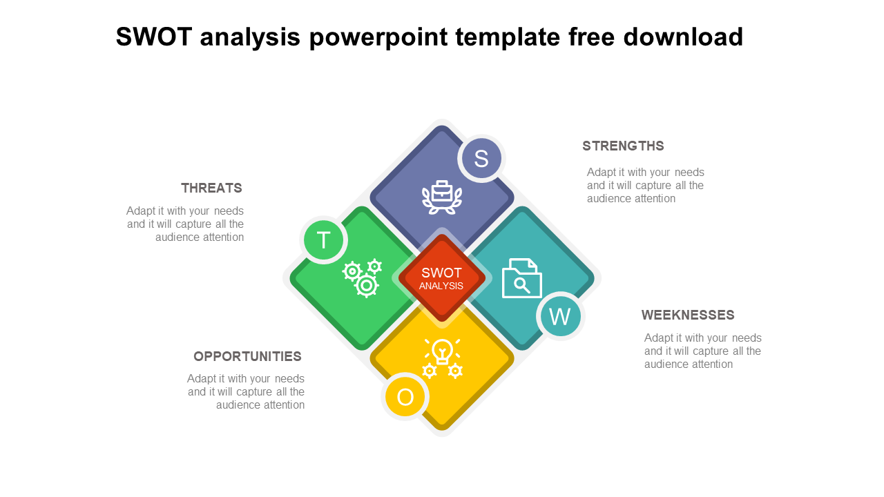 SWOT Analysis PowerPoint Template Free Download - Dimond Model