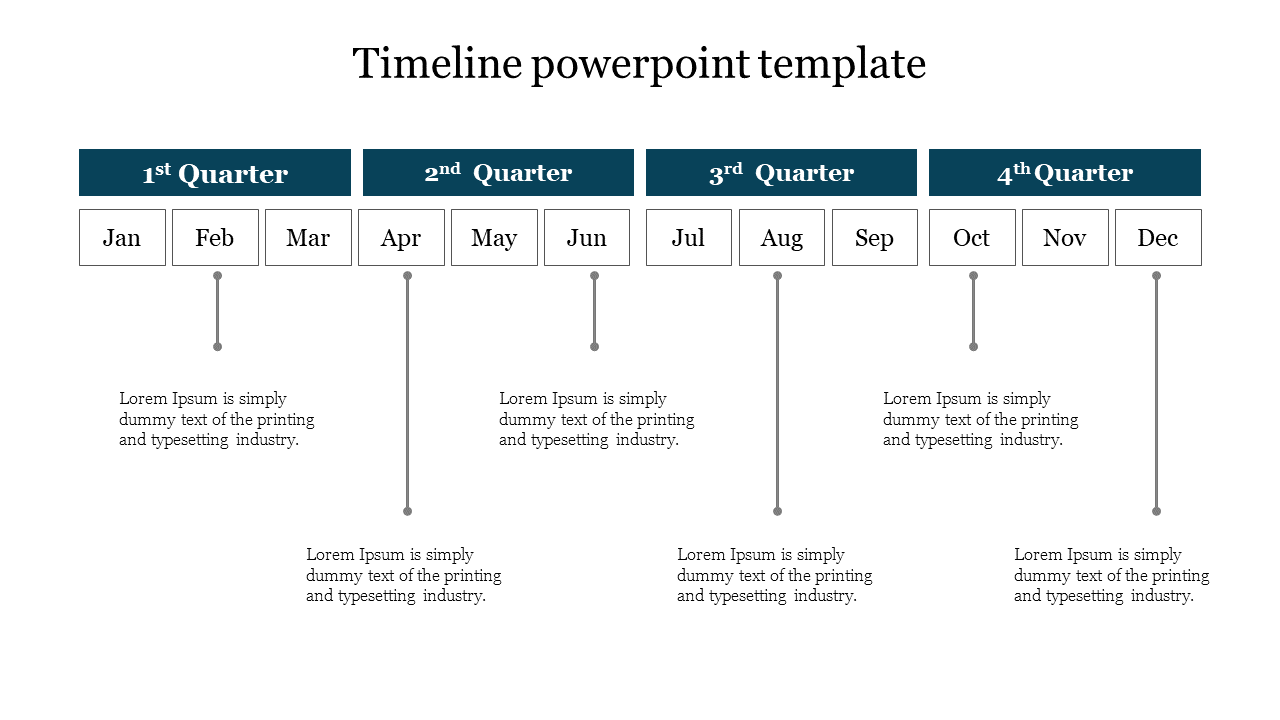 A Four Noded Timeline Powerpoint Template