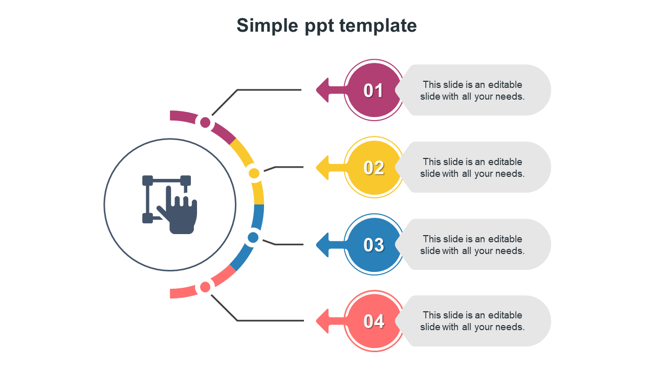 Simple PPT Template With Timeline Model