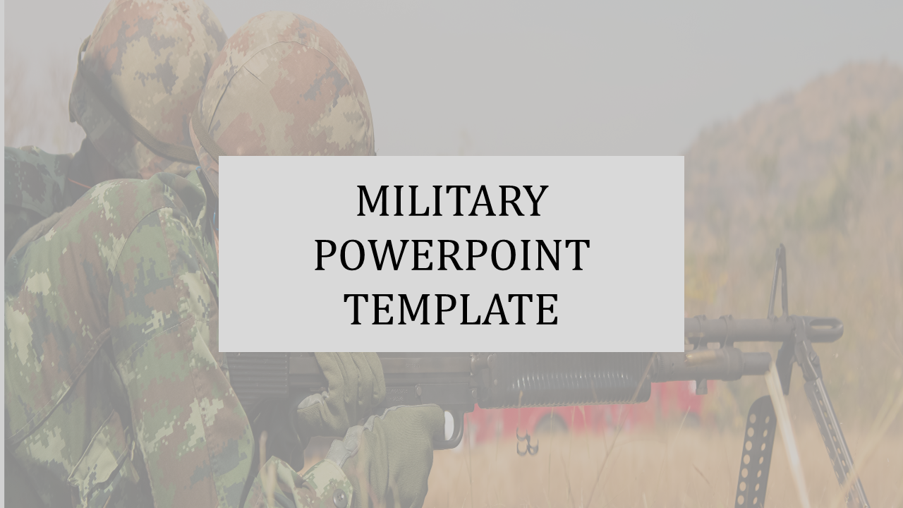 A Two Noded Military Powerpoint Template