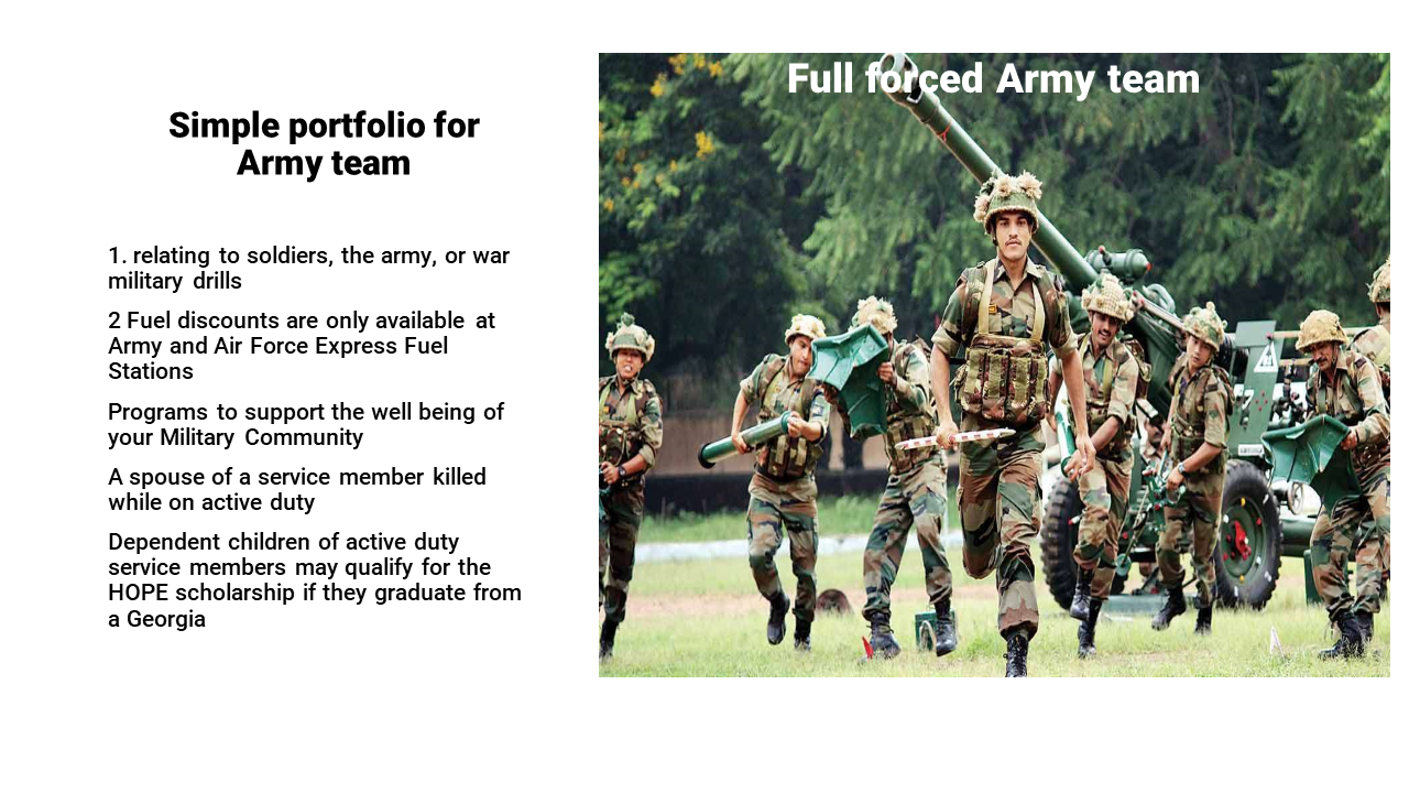 Military Powerpoint Template