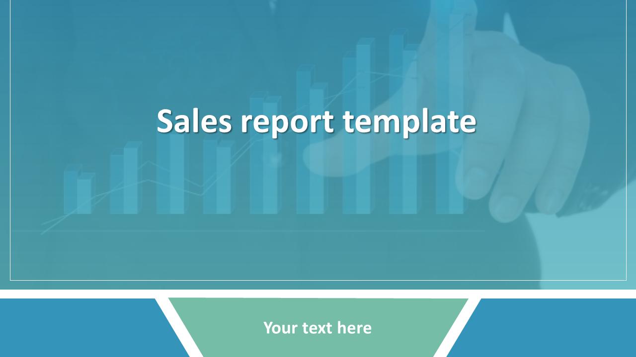 Sales Report Template Powerpoint Presentation Slideegg
