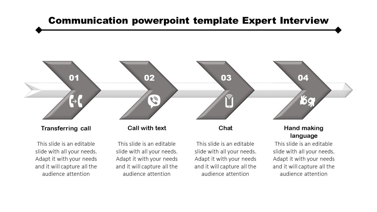 Communication PowerPoint Template - Arrow Model
