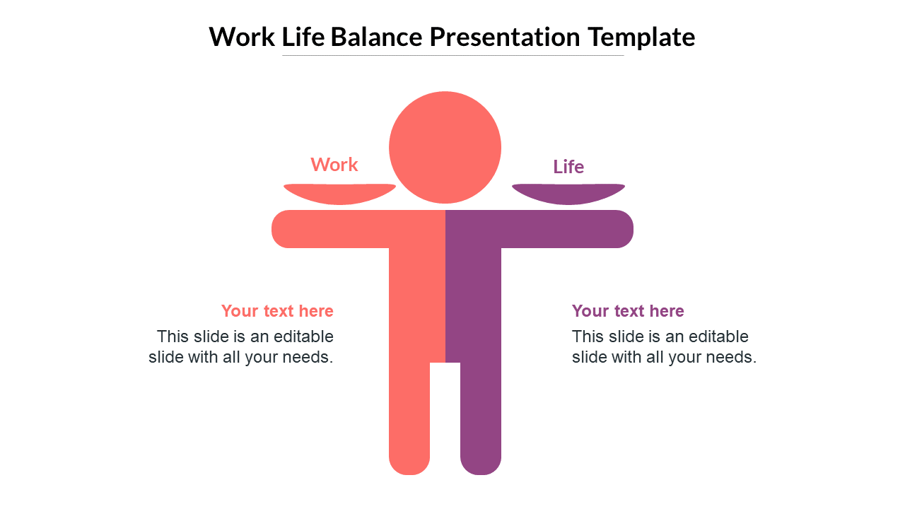 Work Life Balance PPT Template For Presentations