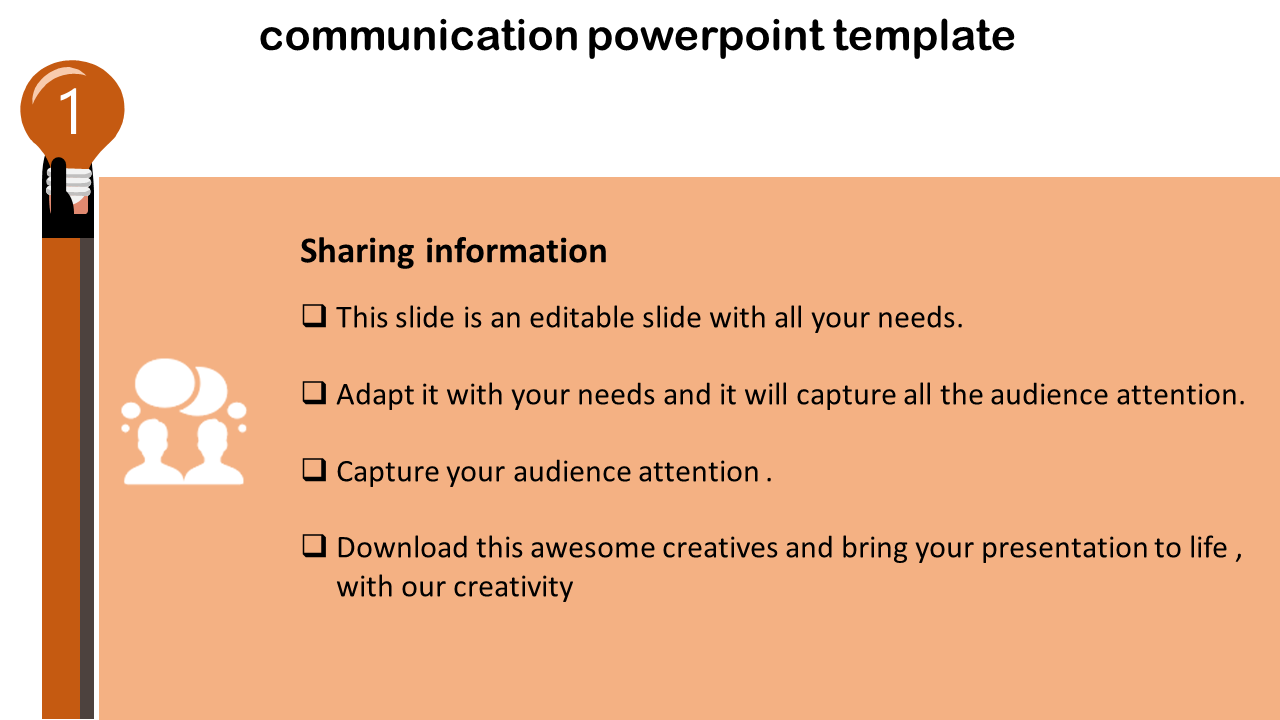 Communication Powerpoint Template-Board Design