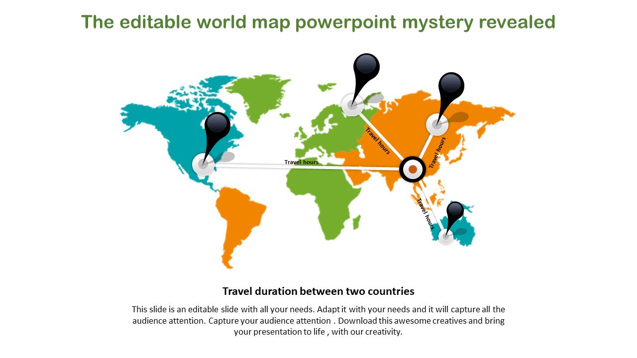 Image of: Editable World Map Powerpoint Slideegg