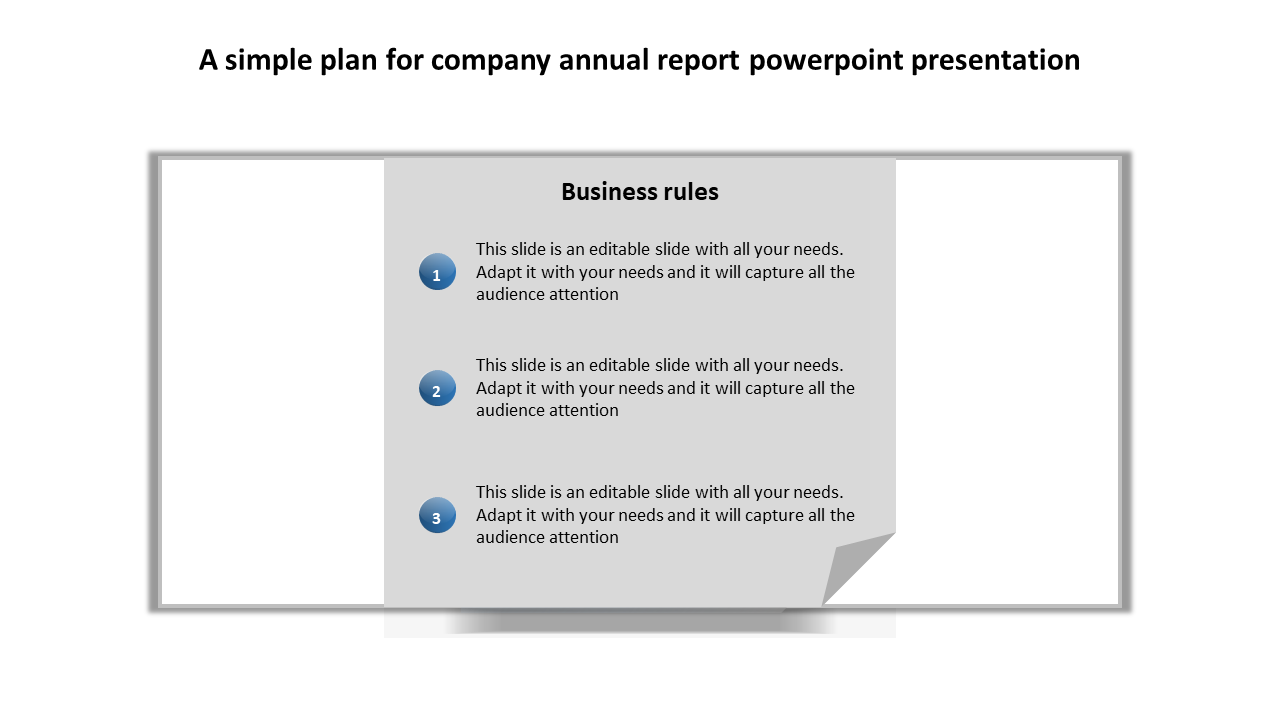 Free-Company Annual Report PowerPoint Presentation Checklist
