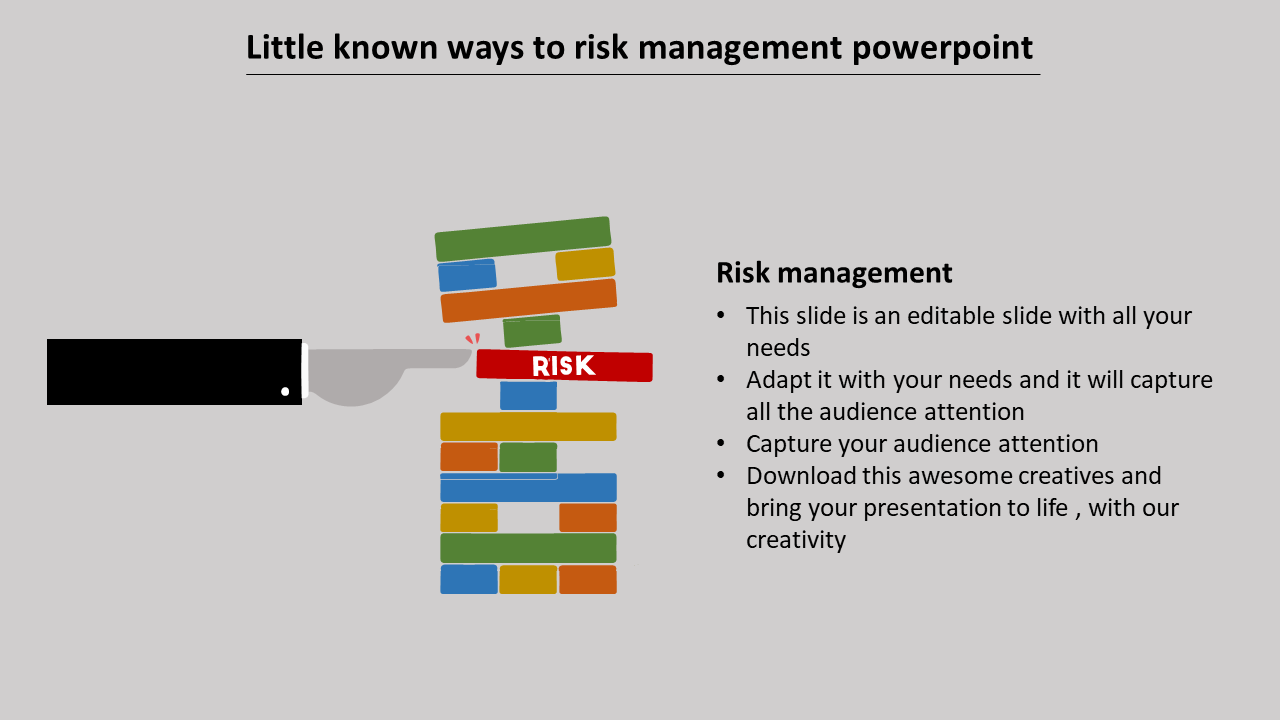 Risk Management Powerpoint With Detailing