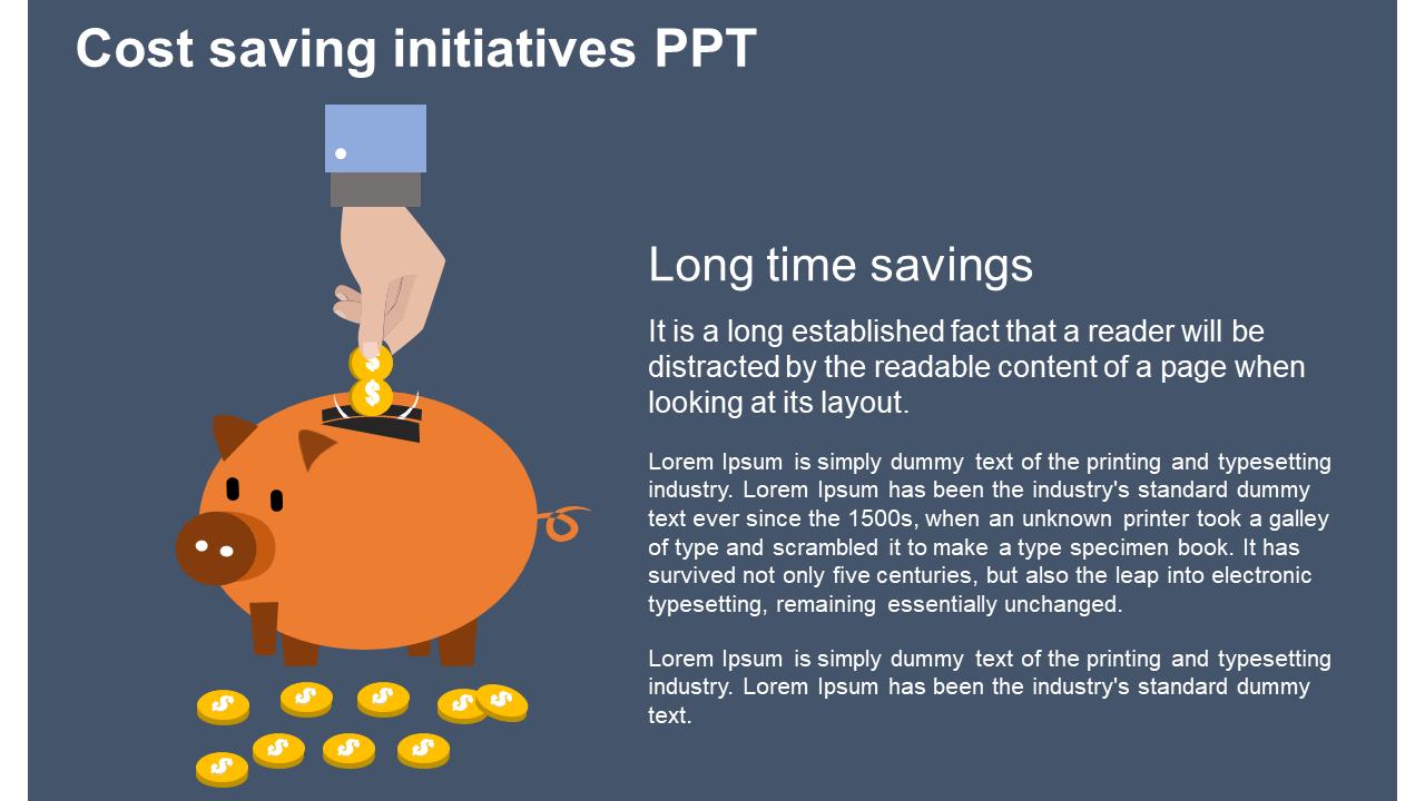 Cost Saving Initiatives Ppt Model Slideegg