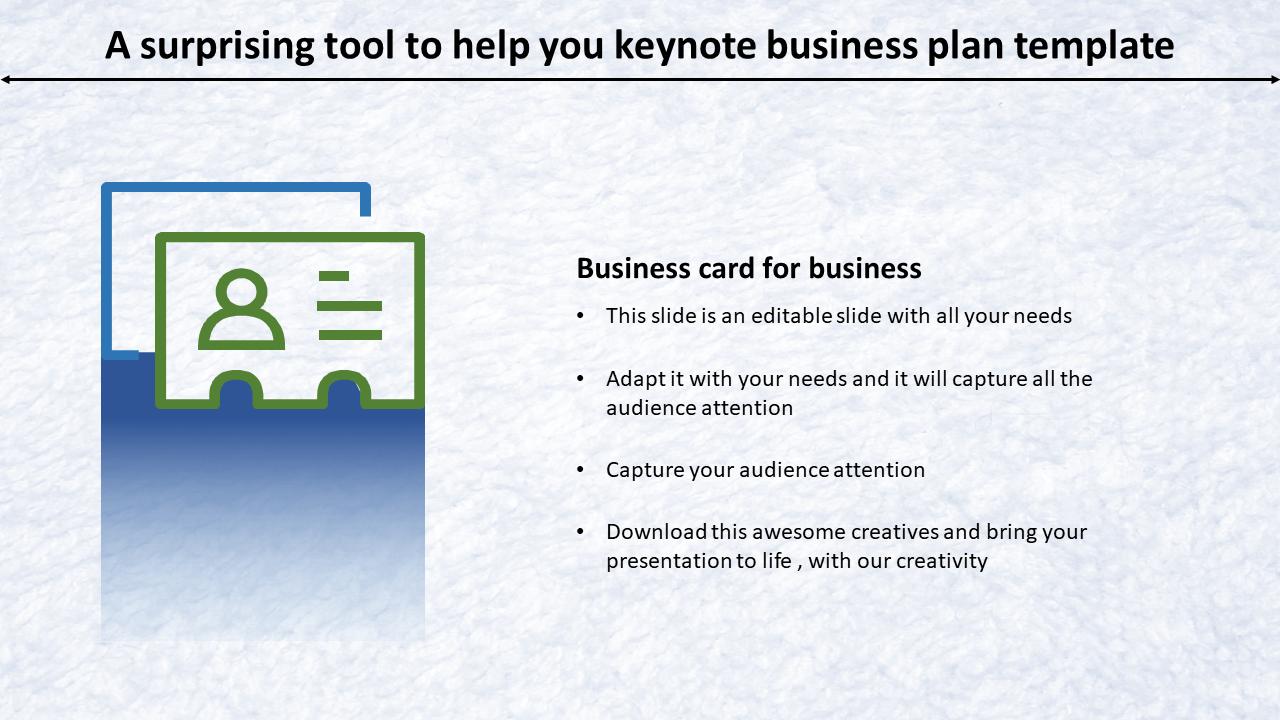 Keynote Business Plan Template Slideegg