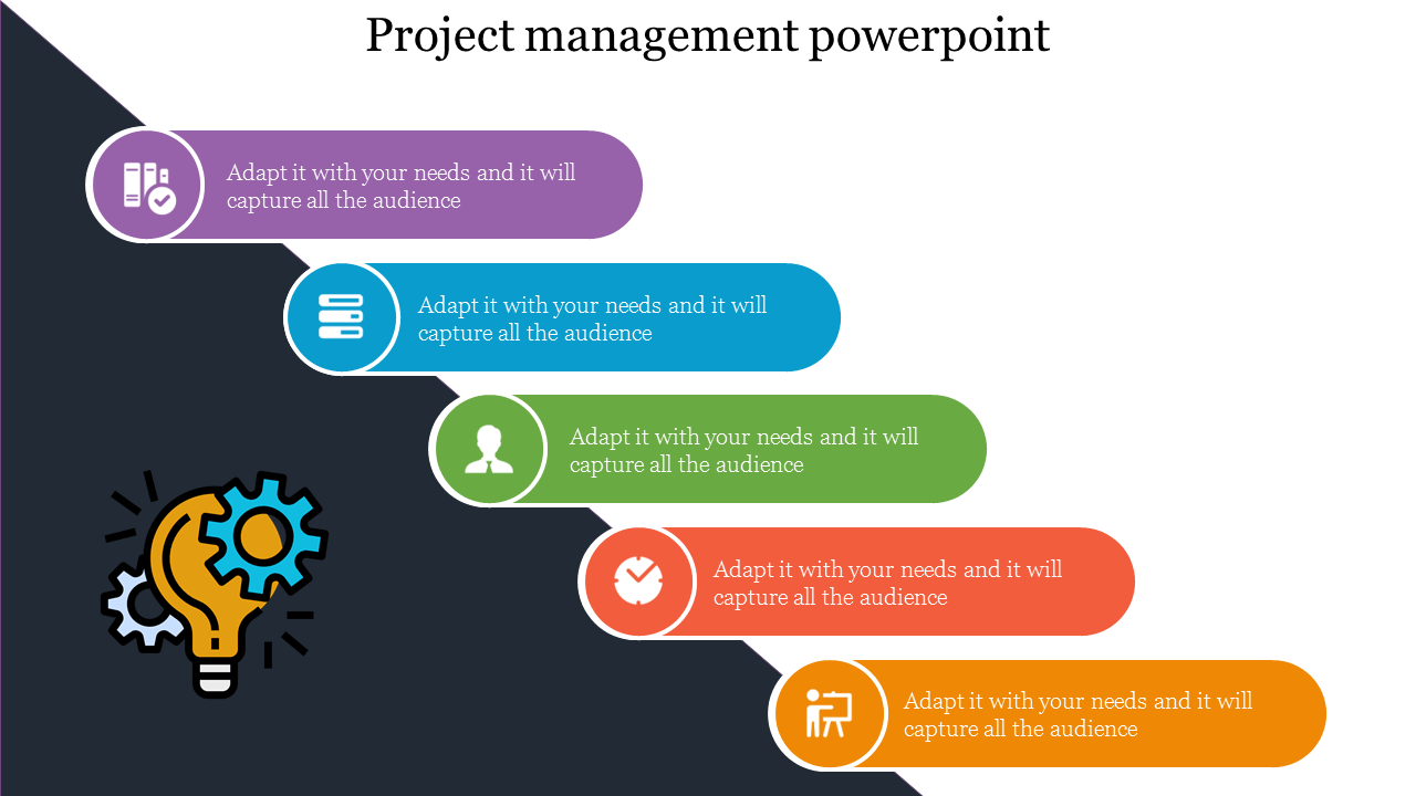 Horizontal Project Management Powerpoint Slides