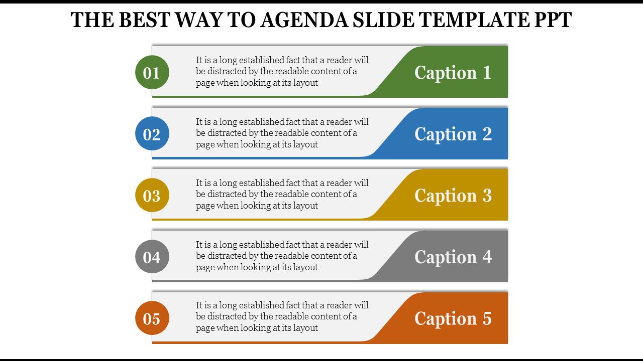 Agenda Slide Template Ppt- SlideEgg