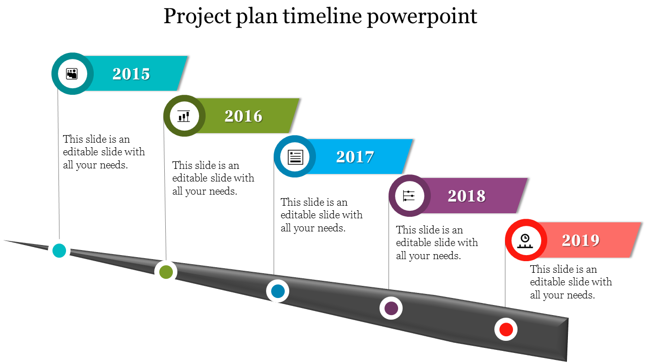 Growth Of Project Plan Timeline PowerPoint Template
