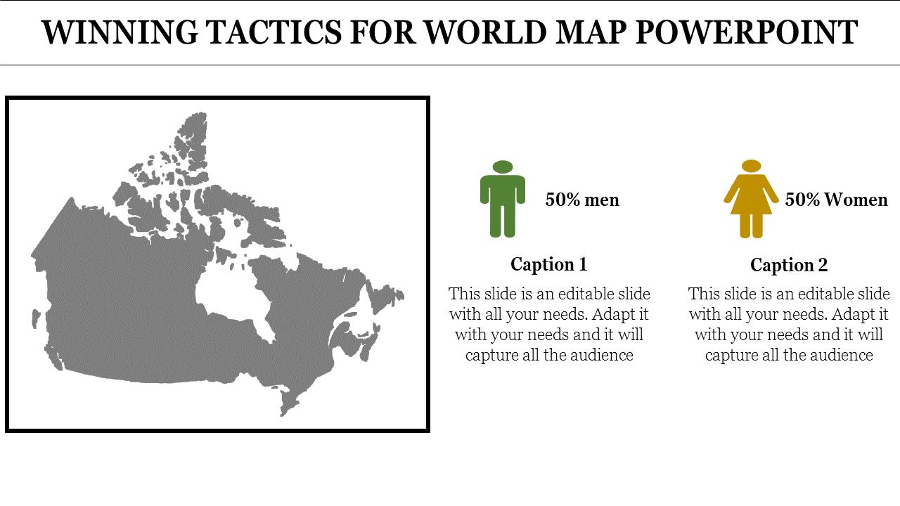 SlideEgg | world map powerpoint template-WINNING TACTICS FOR WORLD