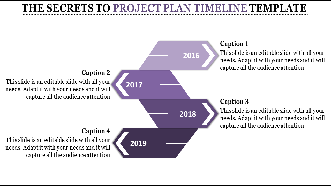 Bright Project Plan Timeline Template
