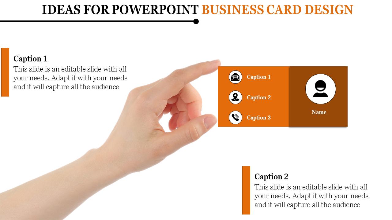 Powerpoint Business Card Design Slideegg