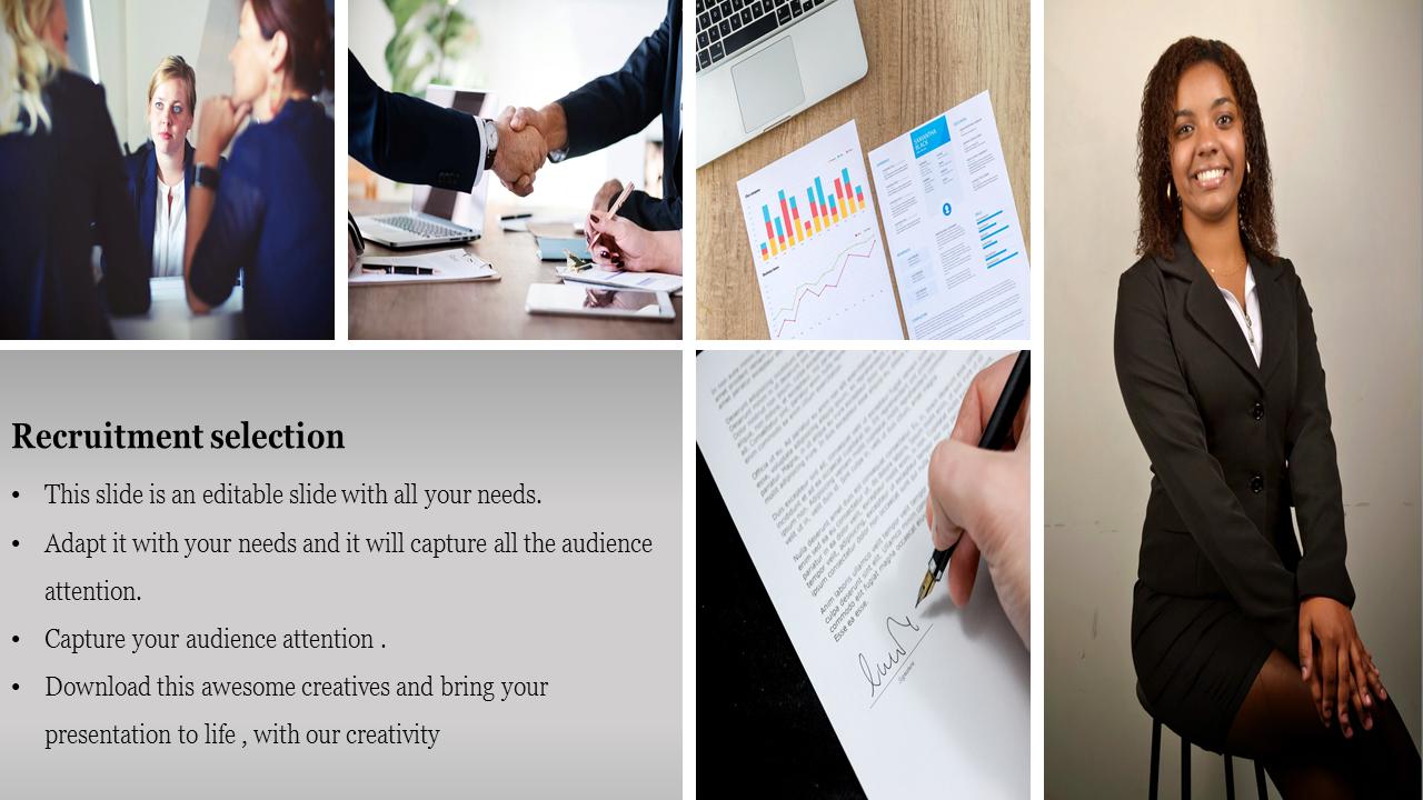 SlideEgg | recruitment process ppt-Recruitment selectionPowerpoint