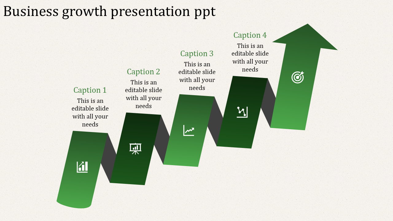 A Four Noded Business Growth PPT Templates