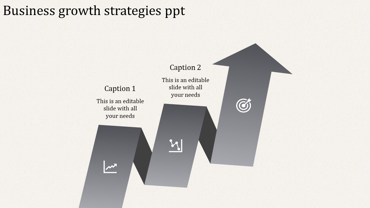A Two Noded Business Growth PPT Templates