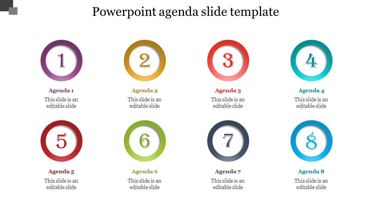 Circle Powerpoint Agenda Slide Template