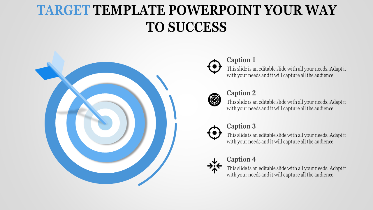 Target Template Powerpoint Graphic
