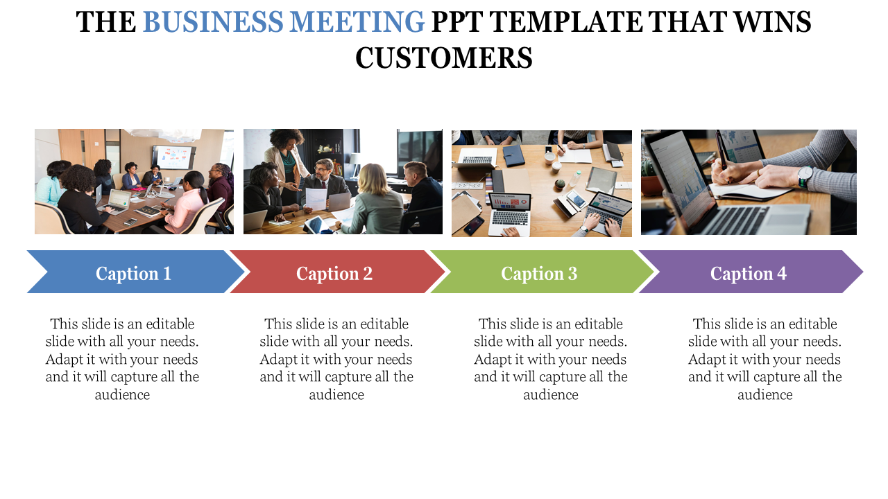 Business Meeting Powerpoint Template With Images Slideegg