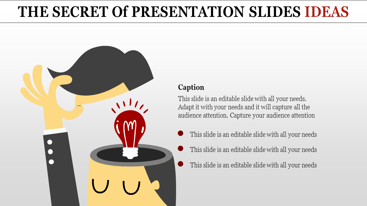 Presentation Slides Ideas-human With Bulb