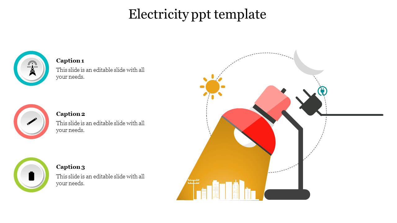 Infographic Electricity Powerpoint Template Slideegg