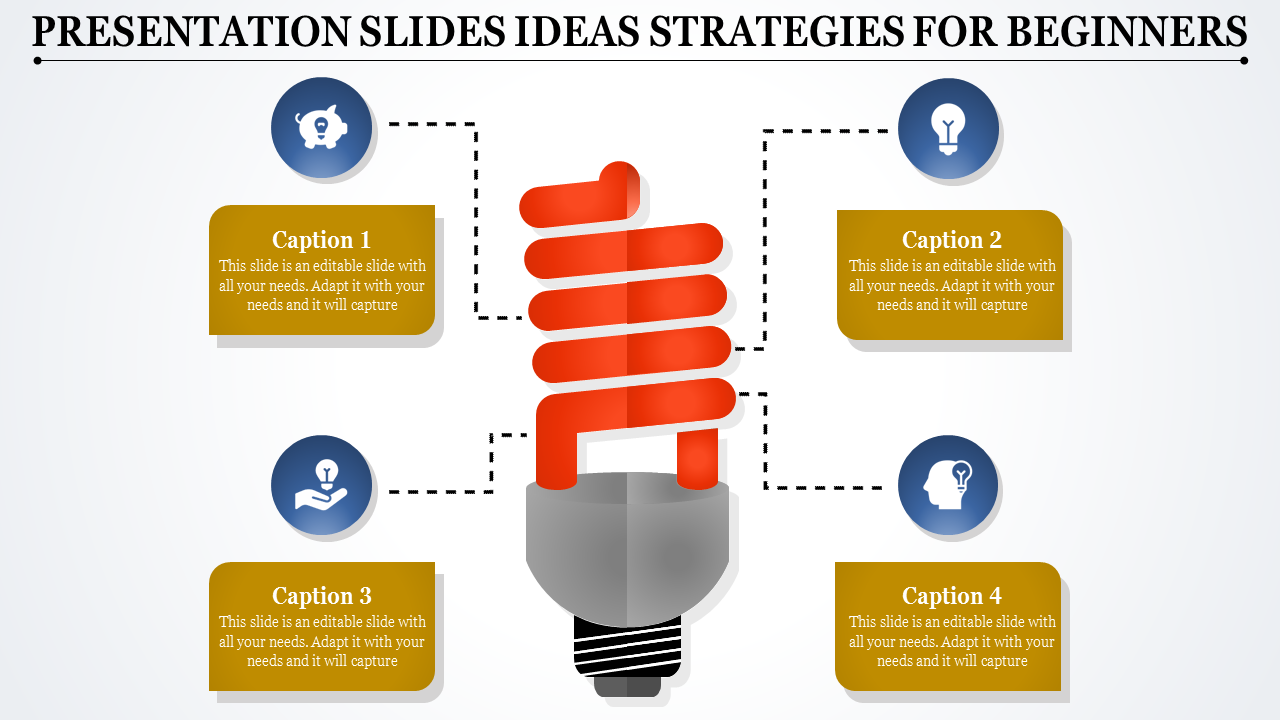 Presentation Slides Ideas With Bulb Model