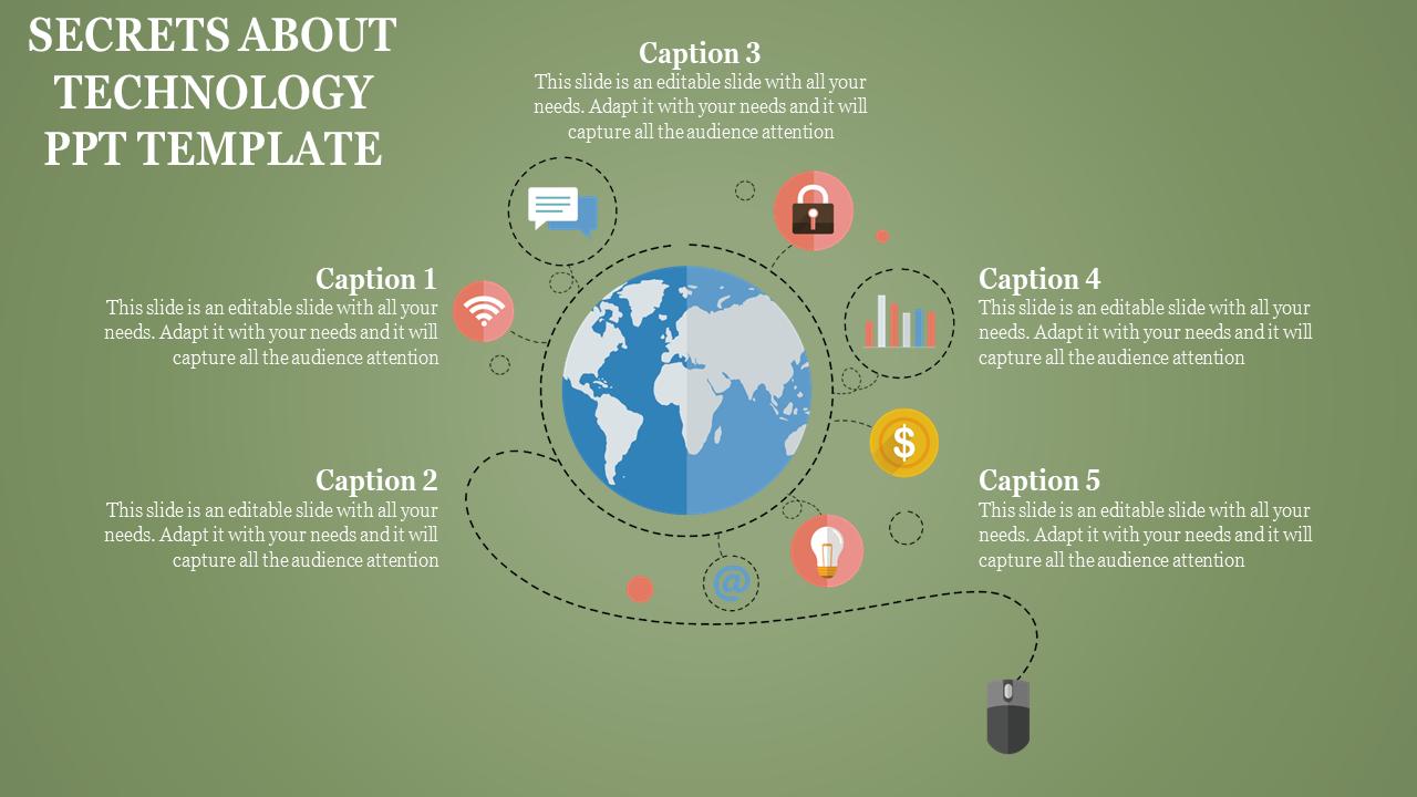 World Technology PPT Template Process
