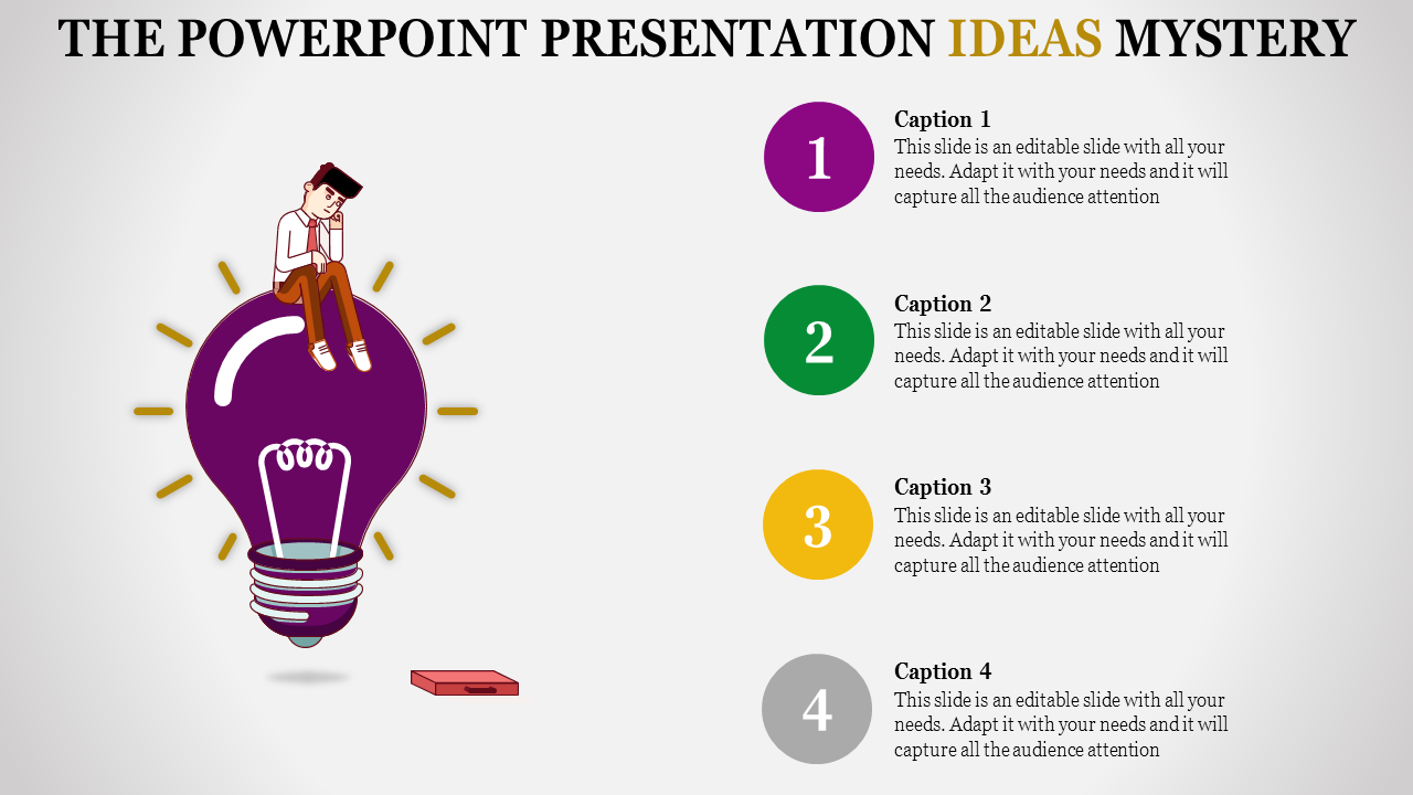 A Four Noded Powerpoint Presentation Ideas To Download (PPT