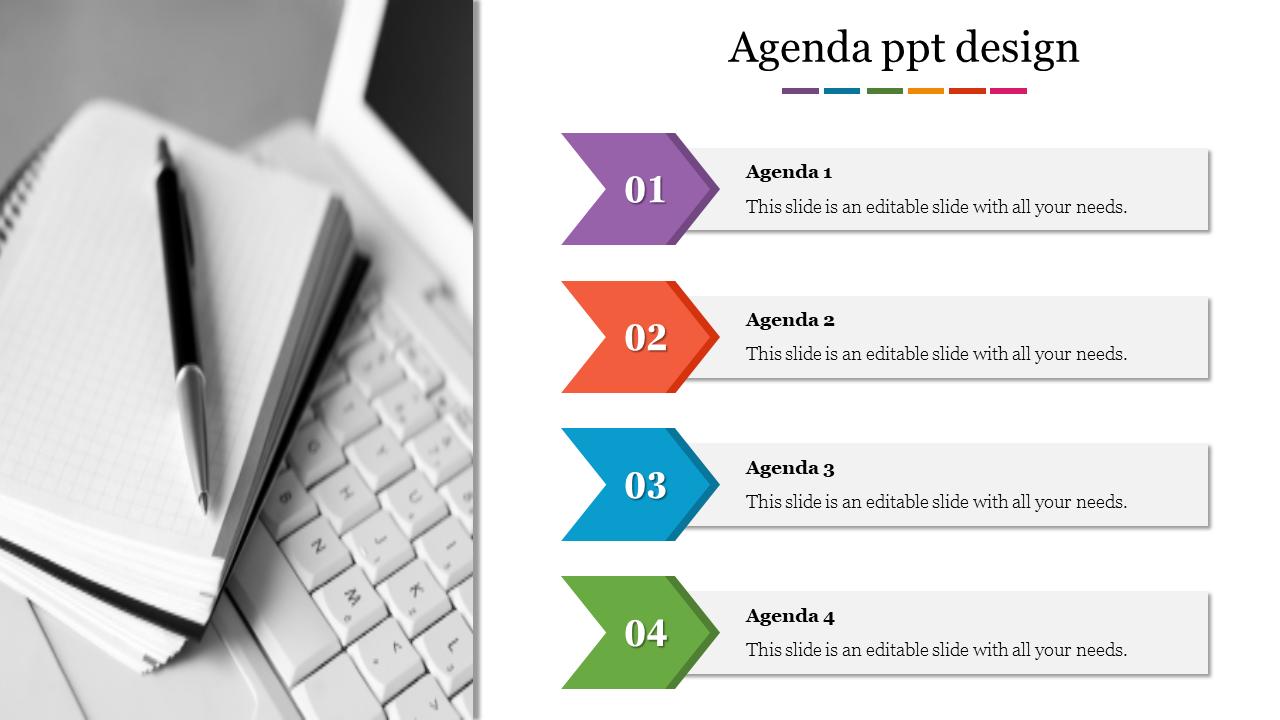 Portfolio Agenda PPT Design