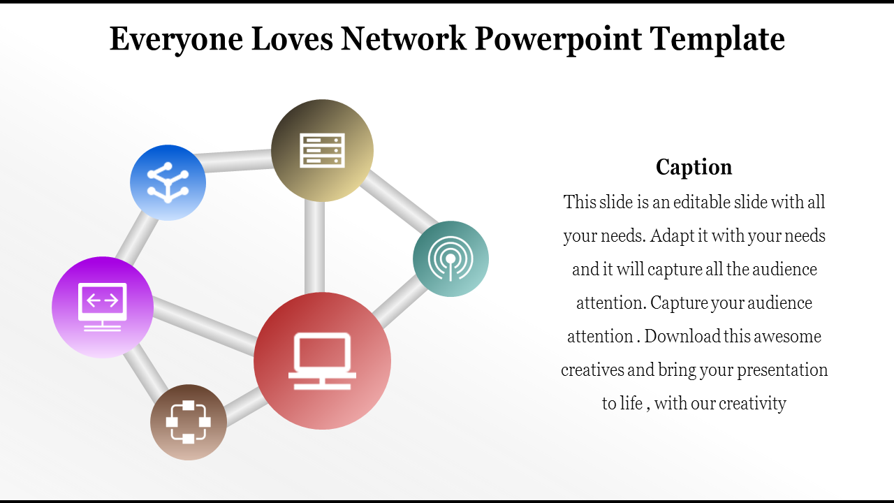 Free - Network Powerpoint Template Design