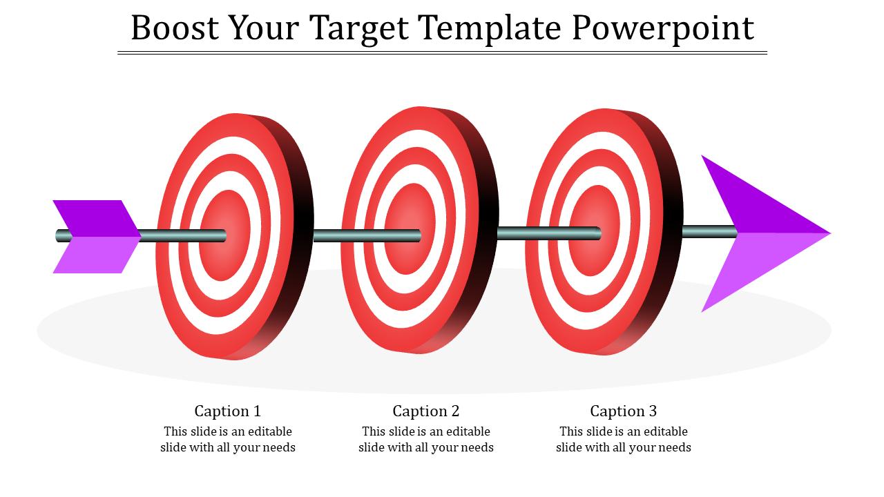 Target Template Powerpoint - Horizontal