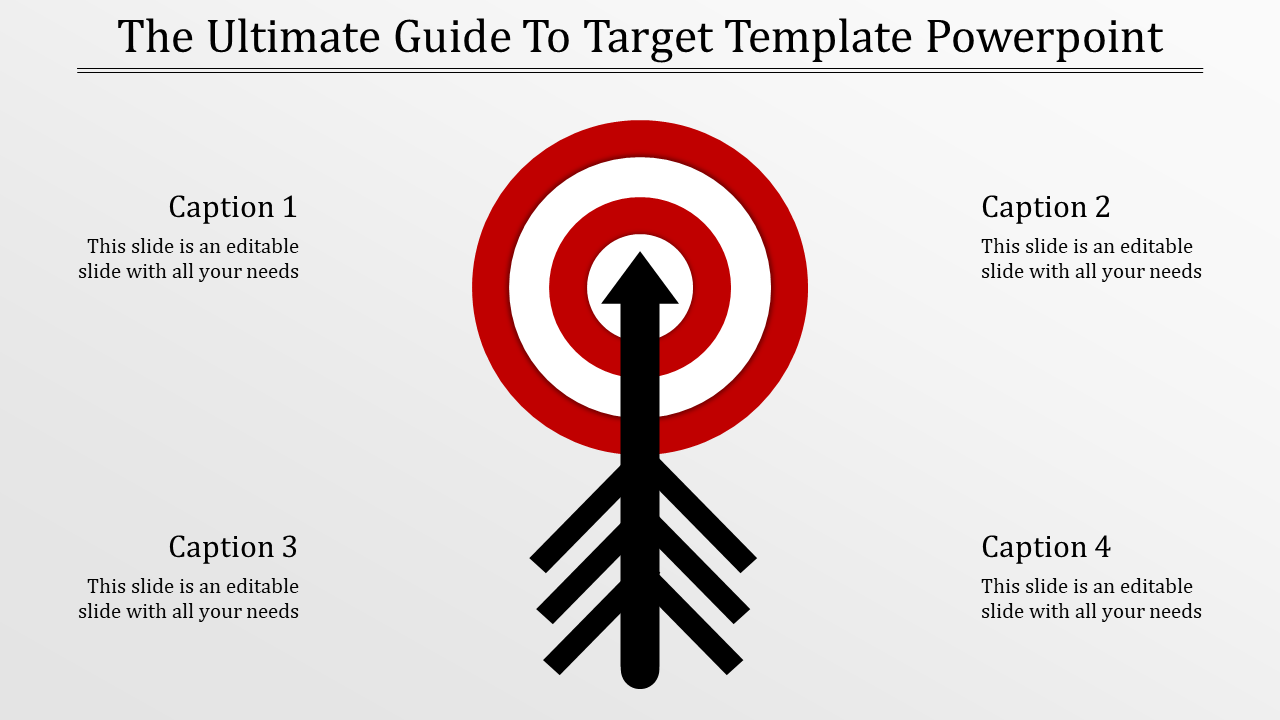 Target Template Powerpoint - Mixed Shape