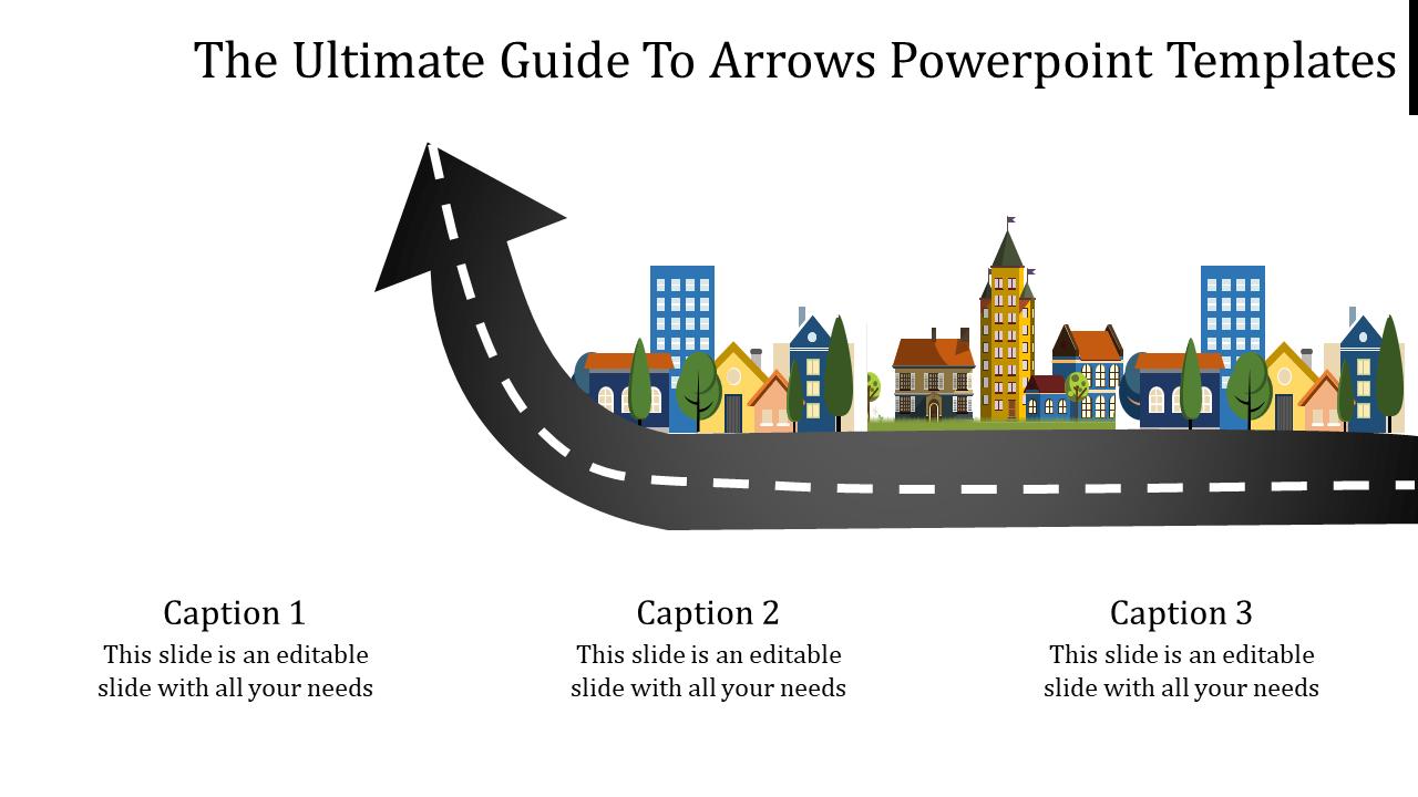 Road Model Arrows Powerpoint Templates