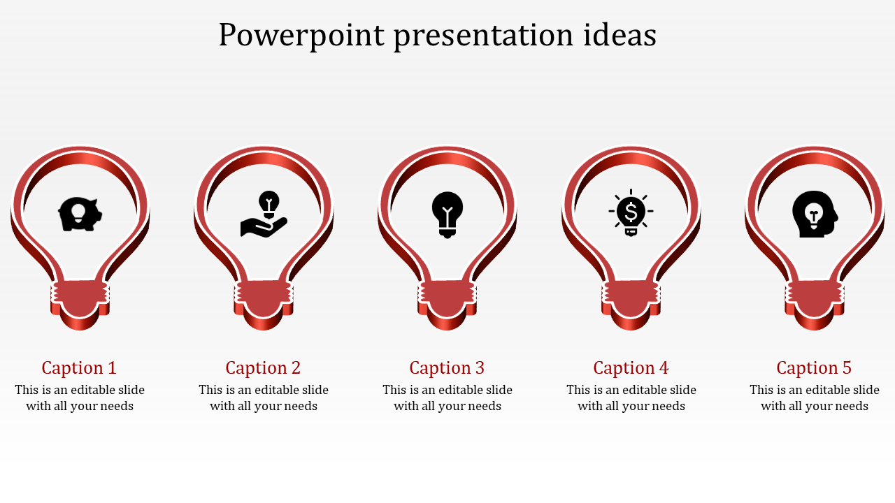 A Five Noded Powerpoint Presentation Ideas To Download (PPT
