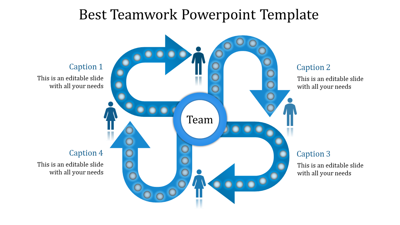 Editable teamwork powerpoint template